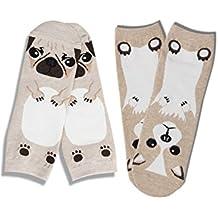 Womens Animal Dog Print Corgi & Pug Ankle Socks JE