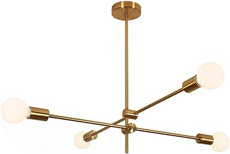 Amazon Com Modo Lighting Sputnik Chandelier 4 Light Golden Pendant Lighting Mid Century Modern Ceiling Light Fixture For Kitchen Dining Room Living Room 4 Lights Home Improvement