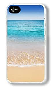 Bahamas Turquoise Blue Waters Beach Custom iPhone 4S Case Back Cover, Snap-on Shell Case Polycarbonate PC Plastic Hard Case Transparent