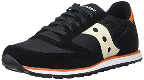 Saucony Originals Men's Jazz Lowpro Sneaker, Black/Orange, 10.5 M US (Best Low Profile Running Shoes)