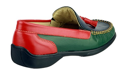 Shoe Slip On Black Multicolore Cotswold Leather Moccasin Biddlestone Ladies EYwUqBp