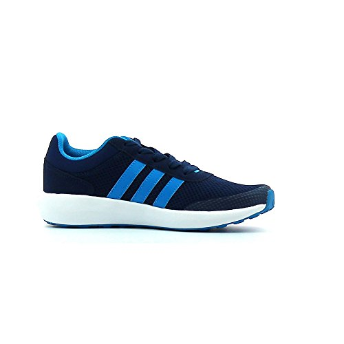 adidas Cloudfoam Race K, Chaussures de Tennis Mixte Enfant, Bleu (Azumis/Azusol/Ftwbla), 35 EU
