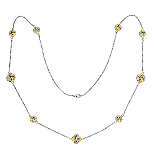 BIJOUX BOBBI Two Tone Love Knots Stationed 36