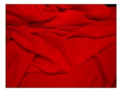 Fabrics-City rosso elastica Lycra Tessuto tessuti al metro costume ...