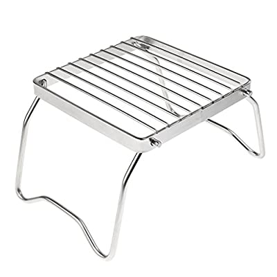 Homyl Stainless Steel Portable Folding Stove Stand Camping Hiking Picnic BBQ Cooking Tools