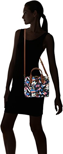 nbsp; Fossil Satchel Fiona Damentasche Black Floral Multicolore Cartables qqtr5g