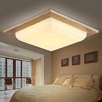 Decken Design Holz Eiche Hell Leuchten Deckenleuchte Wohnzimmer
