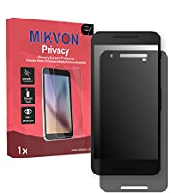 Mikvon Privacy Screen Film for Privacy protection black for LG Google Nexus 5X - PREMIUM QUALITY