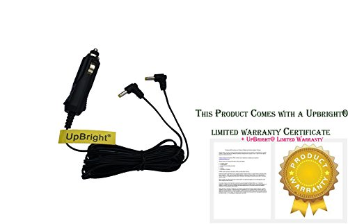 UpBright New Car DC Adapter Y Cable 2 Output For Sylvania Sdvd8730 Sdvd8732 Sdvd8706 Sdvd8706b Sdvd8727 Sdvd8791 Sdvd8735 Sdvd8737 7
