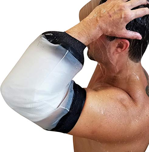 (PICC Line Shower Cover | Elbow Waterproof Bandage Protector | Arm Cast Cover for Shower by FIGHTECH® (Available in Two Sizes))
