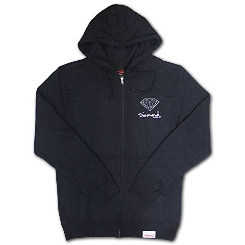 Diamond Supply Co OG Sign Zip Up Hoodie Navy by Diamond Supply Co