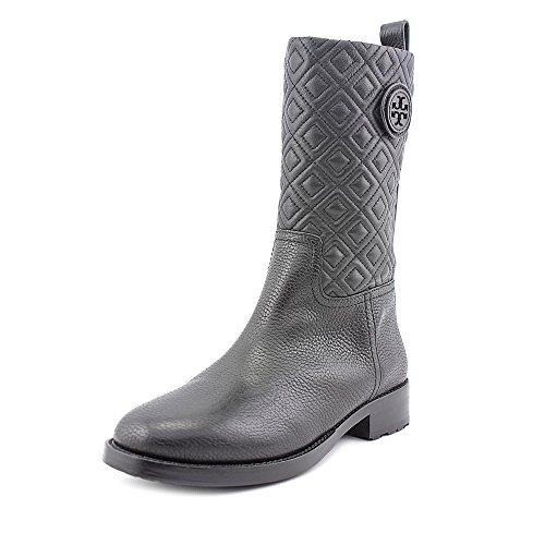 Tory Burch Marion Quilted Leather Boot, Black Size 7