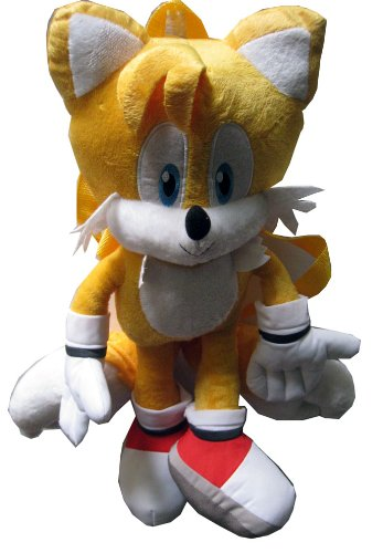 Sonic the Hedgehog Doll Plush Backpack - Tails Ora…