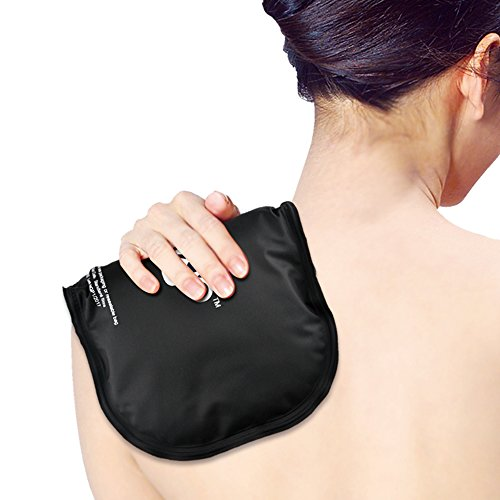 Shoulder Ice Pack for Injuries, Reusable Hot Cold Compress for Pain Relief (11.81 x 7.08 inch)