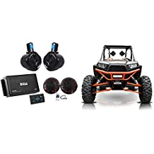 "(2) Rockville 6.5"" Tower+(2) LED Speakers+4-Ch Bluetooth Amp+Remote ATV/UTV/RZR"