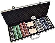 HAN'S DELTA Poker Chip Set 11.5 Gram for Texas Holdem, Blackjack, Casino Gambling with Aluminum Case, Card