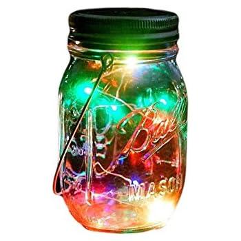 Outdoor Decor Color Changing Led Solar Mason Jar Lights(1