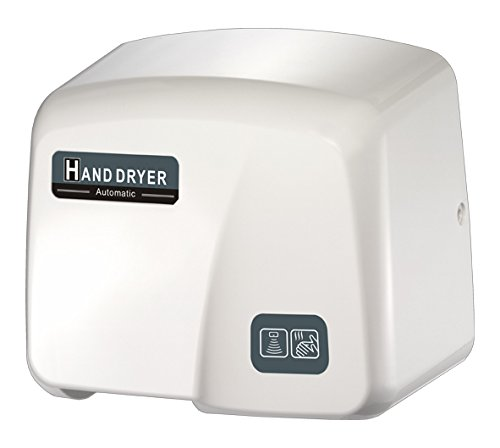 FastDry HK-1800PA Automatic Hand Dryer, White ABS Plastic Cover, 220-240V by FastDry