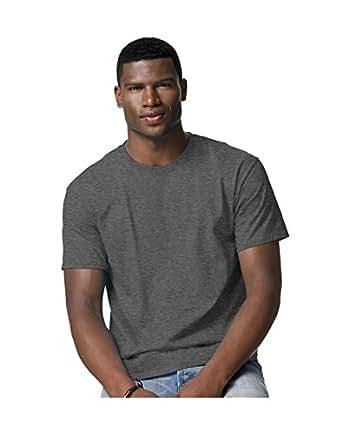 Hanes Tagless 100% Cotton T-Shirt, 4XL, Charcoal Heather