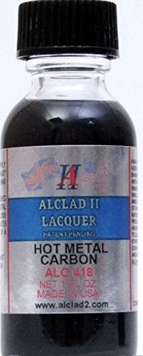 Alclad II Lacquer Paint Hot Metal Carbon #418