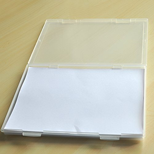tinksky a4 clear plastic paper file box document storage