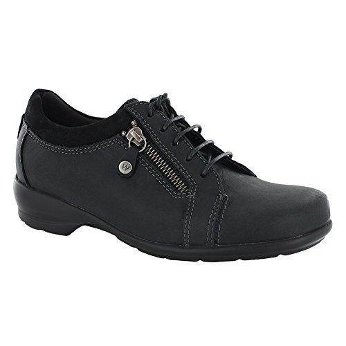 Wolky Women's Bonnie Black Leather Sneaker 42 (US Women's 10.5-11) B (Bonnie Black Leather)