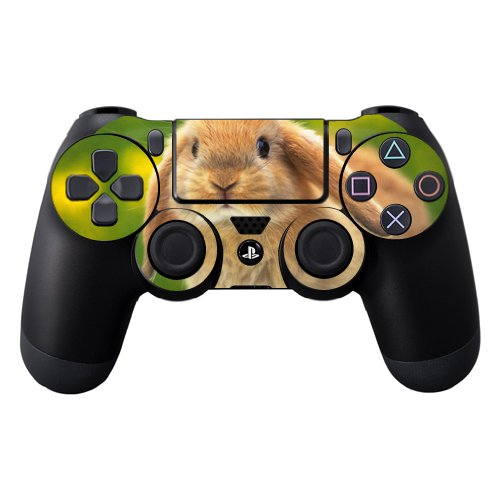 (MightySkins Skin Compatible with Sony PS4 Controller - Rabbit | Protective, Durable, and Unique Vinyl Decal wrap Cover | Easy to Apply, Remove, and Change Styles | Made in The USA)