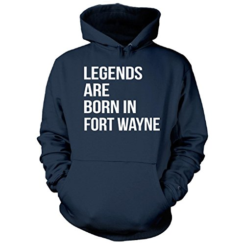 Legends Are Born In Fort Wayne City. Funny Gift - Hoodie Navy Adult 5XL (Halloween City Fort Wayne)