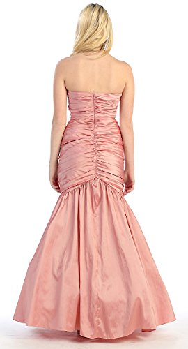 Ballkleider Stil Abendkleider Brautkleider Rot Meerjungfrau lang dwxag8