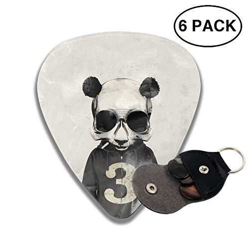 Celluloid Guitar Picks 3D Printed Panda Jacket Skull Best Guitar Bass Gift