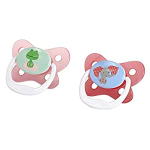Dr Brown's Prevent Butterfly Pacifier, Girls, Stage 2, 6-12 Months
