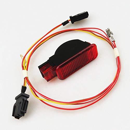 READXT Car Door Panel Interior Red Warning light With Cable Harness Plug For Q3 Q5 TT A3 S3 A6 S6 A4 S4 RS4 Cabriolet 8KD947411