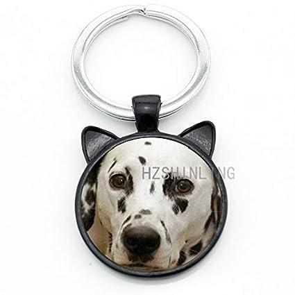 Mct12-1 - Llavero, diseño de perro dálmata, color blanco y ...