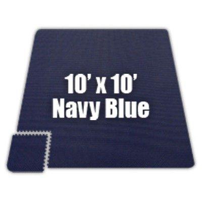Alessco EVA Foam Rubber Interlocking Premium Soft Floors 8' x 8' Set Navy Blue