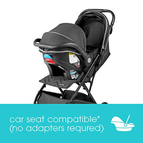 41oPchU4FqL - Summer 3Dpac CS Lite Compact Fold Stroller, Black – Compact Car Seat Adaptable Baby Stroller – Lightweight Stroller With Convenient One-Hand Fold, Reclining Seat, Extra-Large Canopy, And More