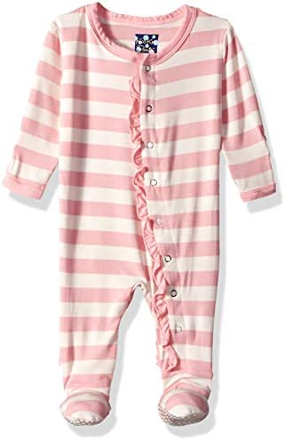 KicKee Pants Baby Girls Essentials Print Muffin Ruffle Footie