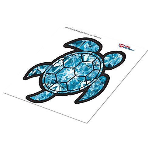 Red Hound Auto Blue Topaz Sea Turtle Birthstone Removable Wall Decal December Print Peel and Stick Large 1 Foot Tall Gem Sticker