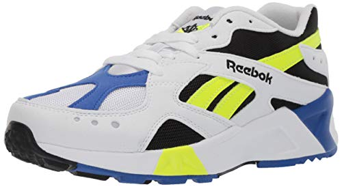 Reebok Unisex Adult's  AZTREK Shoes, White/Black/Crushed Cobalt/Solar Yellow, 7.5 M US