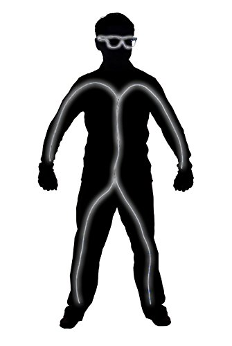 GlowCity Light-Up Stick Figure Costume-Kit - with Shades - Excludes Clothing (White Child)
