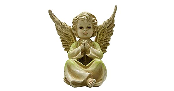 Perfect at Grave Tremont Floral Angel Garden Figurine Or Gravesite Or As A Garden Decoration Unique Sympathy Gift Can Be Used Inside//Outside
