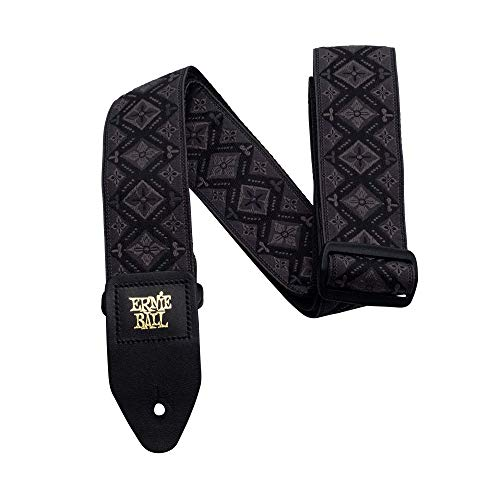 Epiphone Electric Guitar Straps - Ernie Ball Regal Black Jacquard Guitar Strap