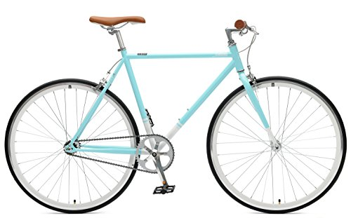 Critical Cycles Harper Single-Speed Fixed-Gear Urban Commuter Bike, Himmelblau, 57 cm/Large