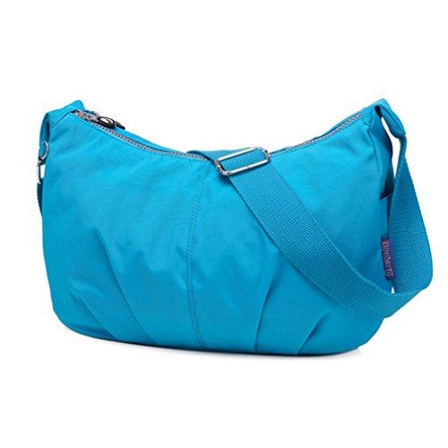 Las Simple Mensajero Blue Bandolera Dumpling sky Forma Tianhengyi De Ligero Azul Estilo Nylon Bolsa Mujeres Btw4qS5