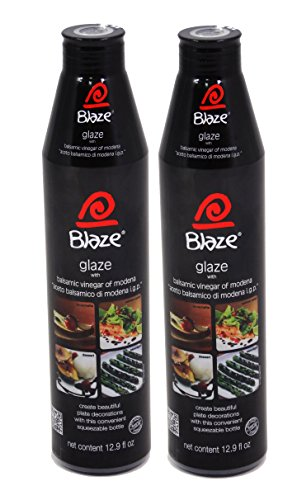 French Salt Glaze - Acetum Blaze Balsamic Reduction, Balsamic Vinegar of Modena - Gluten Free 12.9 Oz. (Pack of 2)