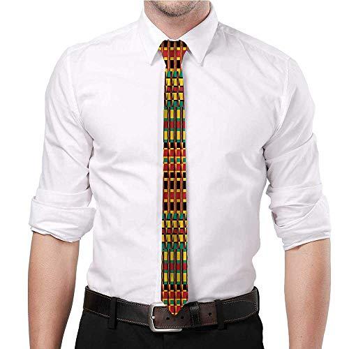 Slim tie Kente Pattern,Ethnic Zimbabwe Suitable for groom dance gift business office