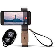 Shoulderpod Handle Grip for Smartphones and a Bonus Ivation Wireless Bluetooth Camera Shutter Remote Controller
