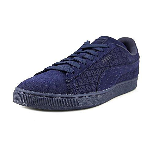 Puma Men's SuedeonSuede Fashion Sneakers Peacoat/White 8.5 D(M) US