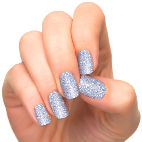 [Incoco Nail Polish Strips, Glitter Nail Color, Ice Queen] (Ice Queen Makeup)