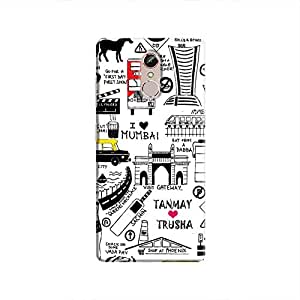 Cover It Up Mumbai Meri Jaan Hard Case For Gionee S6s - Multi Color