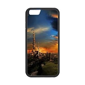 distant cathedral Case Cover For HTC One M8 Cases For Teen Girls Protective, Case Cover For HTC One M8 [Black]